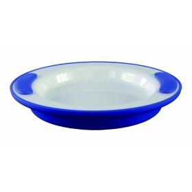 Warmhoudbord blauw/wit