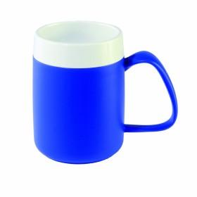 Warmhoudbeker wit/blauw