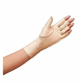 Oedeemhandschoen halve vingers over de pols