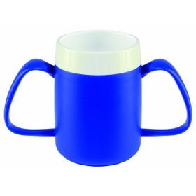Conische ergobeker blauw/wit