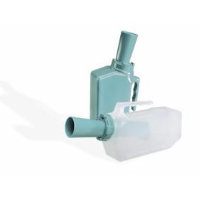 Urinaal met terugloop beveiliging - man - kleur groen