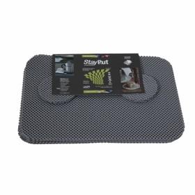 Anti-slip placemat en onderzetter set - grijs