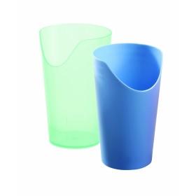 Beker met neusuitsparing - transparant groen