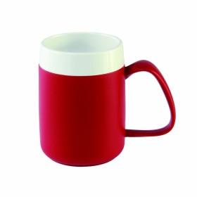 Warmhoudbeker wit/rood
