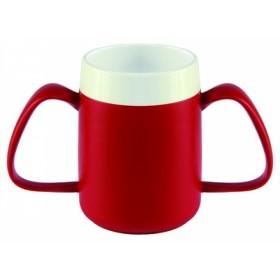 Conische ergobeker rood/wit