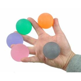 Handtrainer gelballen in variable weerstanden - sterk oranje