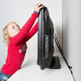 SecuCare TV Beveiligingsband, Zwart, 2 stuks