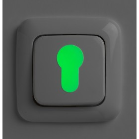 SecuCare Glow in the dark stickers voor sleutelgat en...